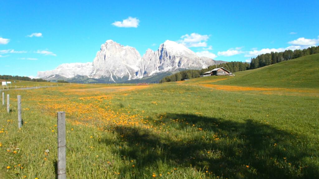 Nádherná krajina na vyvýšené ploše národního parku Parco Naturale Sciliar Catinaccio